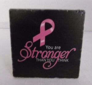 You Are Stronger Than You Think Stone Sign, Breast Cancer Awareness, Survivor