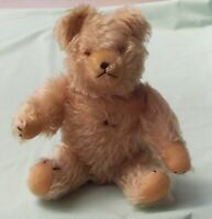 Grisly Teddy Bear  Mohair Toy  Germany  with Chest Button & Tummy Squeaker