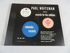PAUL WESTON SELECTS RECORDS FOR THE MILLIONS 4 78 RPM SET 1948 COLUMBIA C163 NM