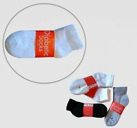 Diabetic non binding low cut ankle socks Loose fit  (9-11 White) - 3 pairs