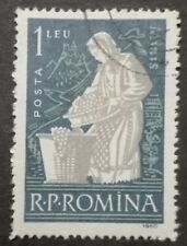 ROMANIA-RUMUNIA STAMPS - Wine Making, 1960, used, 1 Lei