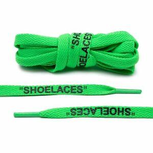 """OFF WHITE Neon Green """"SHOELACES"""" Shoe Laces Adidas 3 stripes Lace Envy"""