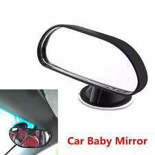 11x14x5.6cm Black ABS Acrylic Car Back Seat Baby View Mirror With Suction Cup