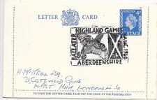 GB SCOTLAND SPECIAL CANCEL LETTER CARD; BALLATER GAMES AUGUST 1966