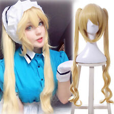 Blend S Kaho Hinata Blonde Cosplay Wig Women Lolita Long Wavy Ponytails Wigs