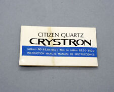 New old stock CITIZEN CRYSTRON handling instruction manual 8520 8530 NOS