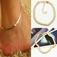 1X  Women Girls Silver/Gold Chain Ankle Bracelet Anklet Foot Jewelry Beach