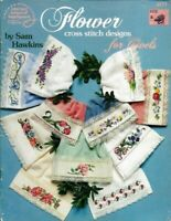 Flower Designs for Towels in Counted Cross Stitch ASN 3571 Sam Hawkins 1991