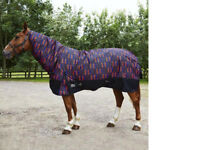 Medium Weight 200g Turnout Rug1200D Combo Neck Cover ALL SIZES FREE DELIVERY