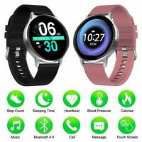 Smart Watch Android IOS Waterproof Fitness Tracker Blood Pressure Heart Monitor