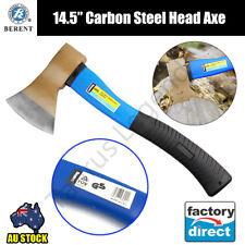 """14.5"""" Axe Fibreglass Shaft Hatchet German Standard Finish Carbon Steel Head 600g"""