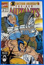 NEW MUTANTS #97 NM+ (9.6) 1991, MARVEL Cabel Wolverine  X-TINCTION AGENDA
