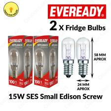 2 X Fridge Bulb Freezer 15w E14 Refrigerator Lamp Appliance Light SES Pygmy 240V