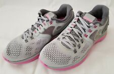 Womens Size 8.5 Grey Pink Nike Lunareclipse 4 Running Shoes 629683-005 preowned