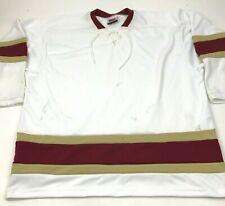VINTAGE Hockey Jersey Size 2XL XXL White Red Shirt Long Sleeve V-neck 90's USA