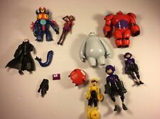 Disney Bandai 2014 Big Hero 6 Cartoon Movie Action Figures Lot Of 8 Robots Toys