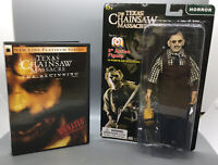 "Mego Horror Series Texas Chainsaw Massacre Leatherface 8"" Figure W/ DVD"