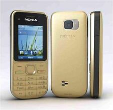 New Nokia C2-01 3G Sim Free Unlocked Bluetooth Gold Mobile Phone UK