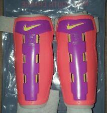 Nike Charge Shin Guards Bright Mango/Purple/Volt Youth Xl Tg New