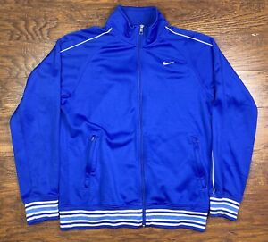 nike athletic dept full zip track jacket mens medium blue C3