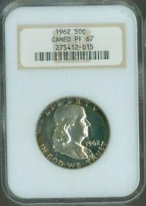 1962 Silver Half Dollar Proof NGC PF 67 CAMEO QUALITY✔️