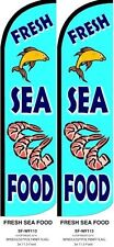 Fresh Seafood King size Windless Flag - Pack of 2 (HARDWARE NOT INCLUDED)