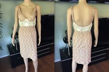 NEW MISSONI Sexy Bustier Sequined Beaded Mini Dress IT 40 US 4