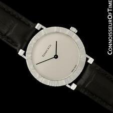 TIFFANY & CO. ATLAS Mens Midsize Unisex Sterling Silver Watch - Mint - Warranty