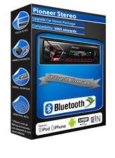 Ford Fusion car stereo Pioneer MVH-S300BT radio Bluetooth Handsfree kit, USB AUX