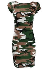 Ladies Celeb Inspired Neon Army Leopard Skull Rose Pencil Fitted Bodycon Dress Zebra Print XXL 20-22