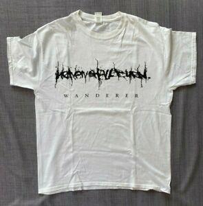 """Heaven Shall Burn """"Wanderer"""" -  T-Shirt Gr. L - weiß - Front- & Backprint"""