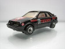 Diecast Matchbox Ford Sierra XR-4i Texaco 1983 Black Good Condition