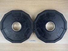 5lb Cap 12 Sided Olympic Rubber Grip Plate Pair 10lb Total 2� Std Barbell Fit