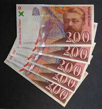 Billet 200 Francs EIFFEL, 1996. France. Vendue à l'unité