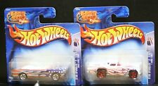 2 NEW HOT WHEELS STAR SPANGLED T BIRD 1957 124 MUSTANG 1965 123 SHORT CARDS