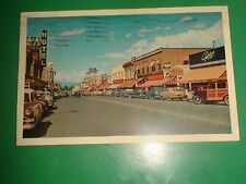 ZU890 Vintage 1956 Postcard Main Street Penticton B.C. Peach Capital of Canada