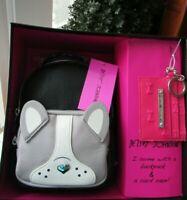 BETSEY JOHNSON Mini Size Dog Backpack & Key Fob Card Case Wallet Set NWT $98.00