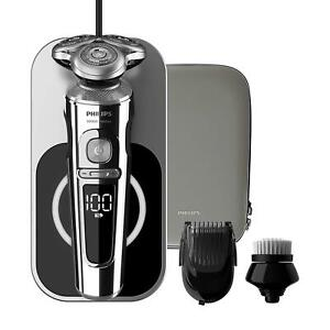 PHILIPS S9000 PRESTIGE Wet & Dry Electric Shaver with Qi Charging Pad, SP9863/14