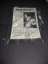 Vintage BILLIARD PLAYER Mike Massey 1982 Trick Shot ad POSTER Pool Massy Ball