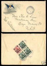 1913 年 德國在華客郵 上海寄美國 實寄封  German Offices Cover: To USA