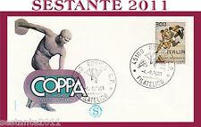 ITALIA FDC FILAGRANO COPPA DEL MONDO ATLETICA LEGGERA ANNULLO ROVIGO 1981 G863
