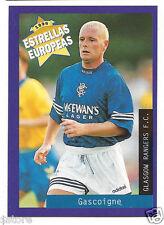 Rare '96 Panini England's EUROPEAN SUPER STAR Paul Gascogne with Glasgow Rangers