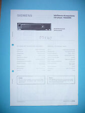 Service manual manual for Siemens RA 305,ORIGINAL