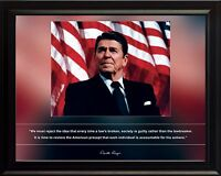 "Ronald Reagan Photo Picture, Poster or Framed Famous Quote ""We Must Reject.."""