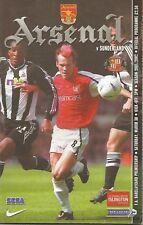 Football Programme - Arsenal v Sunderland - Premiership - 30/3/2002