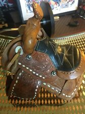 Vintage SHOW SADDLE TOOLED LEATHER 9 1/4 INCHES