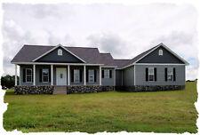 Ranch House Plans 1842 SF 3 Bed 2 Bath/Office/Opt Basement (Blueprints)#1011