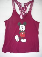 Mickey Mouse Crochet Back Tank  Womens Juniors Size M 7-9 NWT