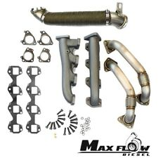 High Flow Manifolds / Up Pipes with FREE Downpipe for 2004.5-2010 6.6L Duramax