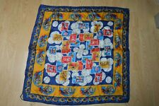 CARRE SOIE COLLECTION TIMBRE FOULARD  VINTAGE 1960 SCARF SILK 70X70 CM